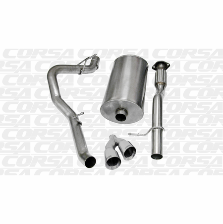 "CORSA 3.0"" Single Side Cat-Back Exhaust 2009-2013 Chevrolet Avalanche 5.3L V8"