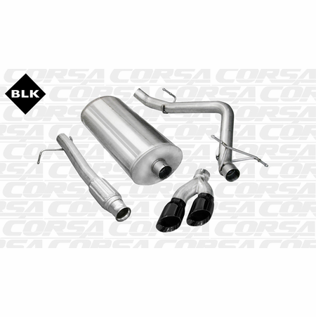 "CORSA 3.0"" Single Side Cat-Back Exhaust 2009-2013 GMC Sierra 1500 Regular Cab/Standard Bed 5.3L V8 119"""