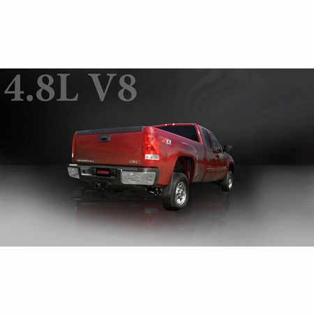 "CORSA 3.0"" Single Side Cat-Back Exhaust 2009-2013 Chevrolet Silverado 1500 Regular Cab/Standard Bed 4.8L V8 119"""