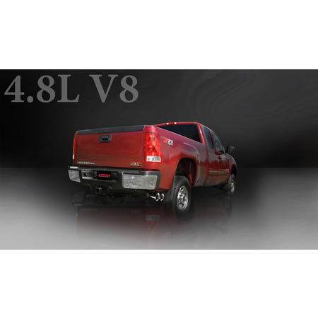 "CORSA 3.0"" Single Side Cat-Back Exhaust 2009-2013 GMC Sierra 1500 Regular Cab/Long Bed 4.8L V8 133"""