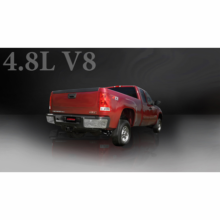 "CORSA 3.0"" Single Side Cat-Back Exhaust 2009-2013 Chevrolet Silverado 1500 Regular Cab/Long Bed 5.3L V8 133"""