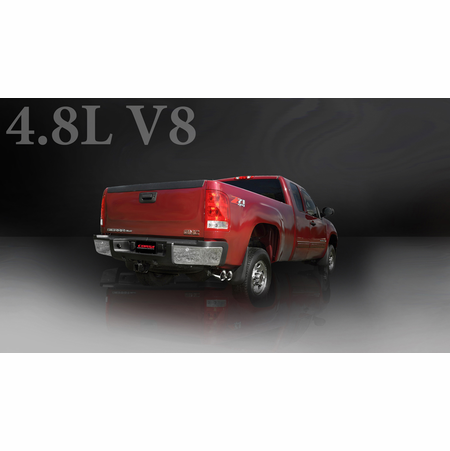 "CORSA 3.0"" Single Side Cat-Back Exhaust 2009-2013 GMC Sierra 1500 Regular Cab/Standard Bed 4.8L V8 119"""