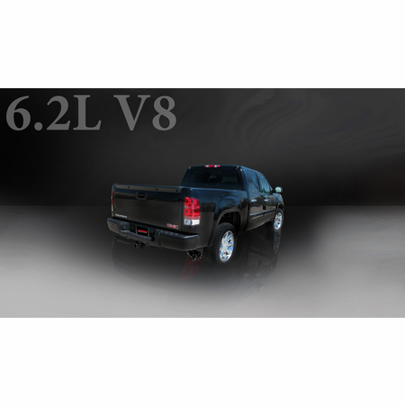 "CORSA 3.0"" Single Side Cat-Back Exhaust 2010-2010 GMC Sierra 1500 Extended Cab/Standard Bed 6.2L V8 143.5"""