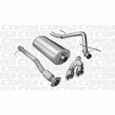 "CORSA 3.0"" Single Side Cat-Back Exhaust 2010-2010 GMC Sierra 1500 Crew Cab/Short Bed 6.2L V8 143.5"""