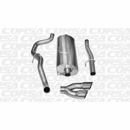 "CORSA 3.0"" Single Side Cat-Back Exhaust 2010-2013 Dodge Ram 2500 Crew Cab/Short Bed 5.7L V8 149"""