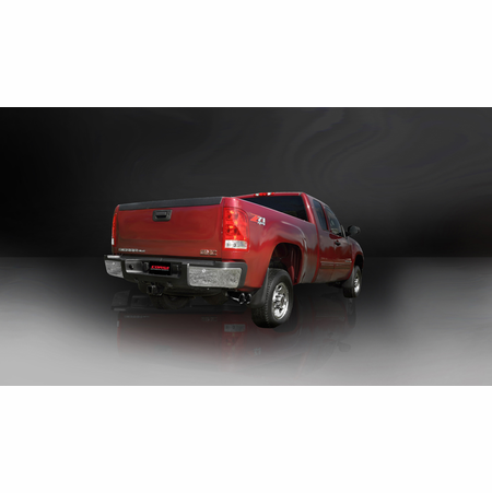 """CORSA 3.0"""" Single Side Cat-Back Exhaust 2011-2012 Chevrolet Silverado 2500 Extended Cab/Long Bed 6.0L V8 158.2"""""""
