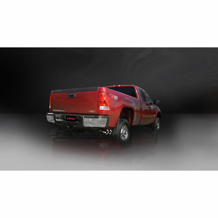 "CORSA 3.0"" Single Side Cat-Back Exhaust 2011-2012 Chevrolet Silverado 2500 Extended Cab/Long Bed 6.0L V8 158.2"""