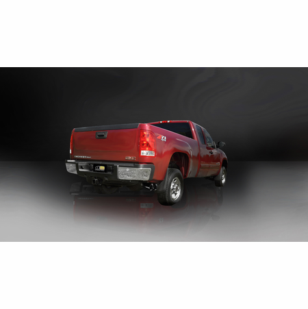 "CORSA 3.0"" Single Side Cat-Back Exhaust 2011-2012 Chevrolet Silverado 2500 Regular Cab/Long Bed 6.0L V8 133.7"""