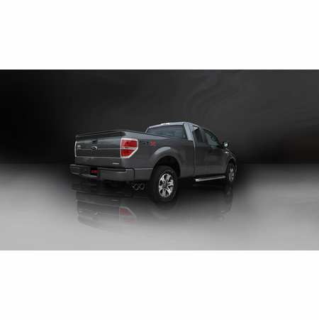 """CORSA 3.0"""" Single Side Cat-Back Exhaust 2011-2014 Ford F-150 5.0L V8 156.5"""""""