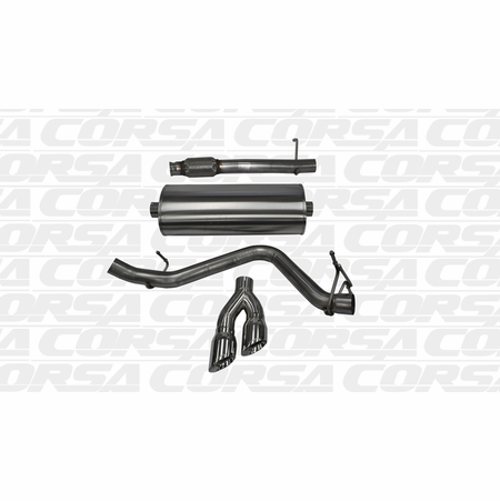 "CORSA 3.0"" Single Side Cat-Back Exhaust 2014-2014 Chevrolet Silverado 1500 Regular Cab/Long Bed 5.3L V8 Auto 133"""