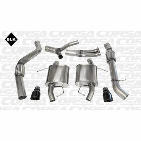 "CORSA 3.5"" Dual Rear Cat-Back Exhaust 2007-2012 BMW 335i E92 Coupe"