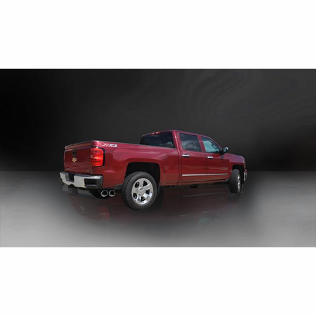 "CORSA 3.5"" Single Side Cat-Back Exhaust 2014-2014 GMC Sierra 1500 Crew Cab/Standard Bed 6.2L V8 153"""