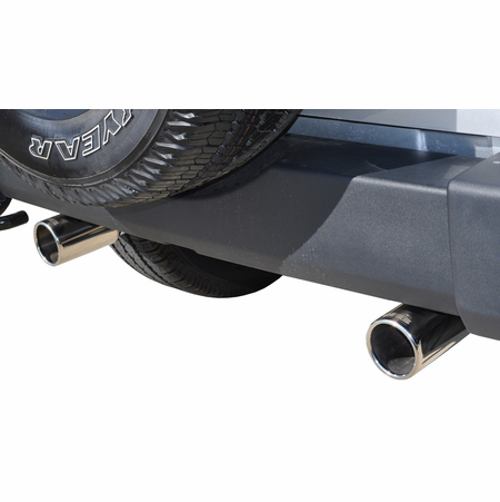"CORSA/dB 2.5"" Dual Rear Axle-Back Exhaust 2012-2014 Jeep Wrangler JK 3.6L V6"