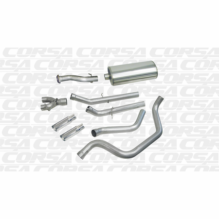"CORSA/dB 3.0"" Dual Rear Cat-Back Exhaust 1999-2007 GMC Sierra 1500 Regular Cab/Short Bed 4.8L V8 119"""