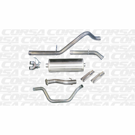 "CORSA/dB 3.0"" Dual Rear Cat-Back Exhaust 2007-2009 GMC Sierra Denali 1500 Crew Cab/Short Bed 6.2L V8 143.5"""