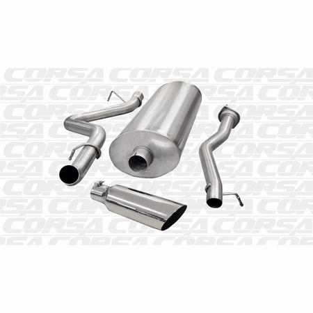 "CORSA/dB 3.0"" Single Side Cat-Back Exhaust 2003-2006 Chevrolet Silverado 2500 Extended Cab/Short Bed 6.0L V8 143.5"""