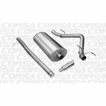 "CORSA/dB 3.0"" Single Side Cat-Back Exhaust 2007-2009 Chevrolet Silverado 1500 Crew Cab/Short Bed 6.2L V8 143.5"""
