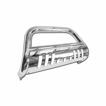 DFJ 02-05 DODGE RAM 1500 (ALSO FIT 03-08 RAM 2500/3500) STAINLESS STEEL 201 BULL GUARD (CHROME)