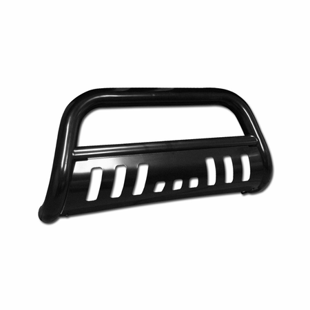 DFJ 07-10 CHEVY SILVERADO 1500 (ALSO FIT GMC SIERRA 1500) STAINLESS STEEL BULL GUARD (BLACK)