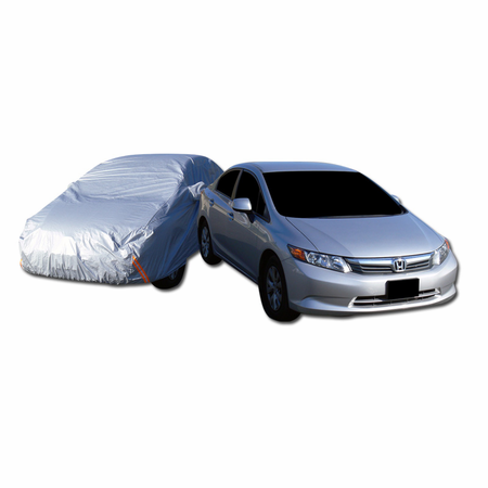DFJ 4700*1800*1500 WATER PROOF CAR COVER W/ MIRROR POCKETS (FITS COROLLA, MAZDA6, 325I, C240, CIVIC, A4, IS300) (LARGE)