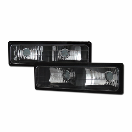 DFJ 88-98 CHEVY/GMC C10 FULLSIZE TRUCK/SUV BUMPER PARKING LIGHTS (JDM BLACK)