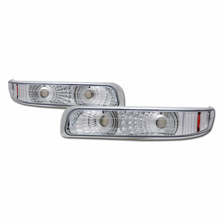 DFJ 99-03 CHEVY SILVERADO / 00-06 SUBURBAN/TAHOE BUMPER PARKING LIGHTS W/AMBER (EURO)