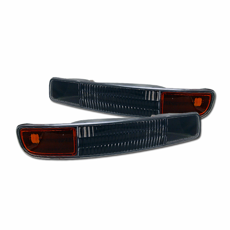 DFJ 99-06 GMC SIERRA/YUKON/XL BUMPER PARKING LIGHTS W/AMBER (JDM BLACK)