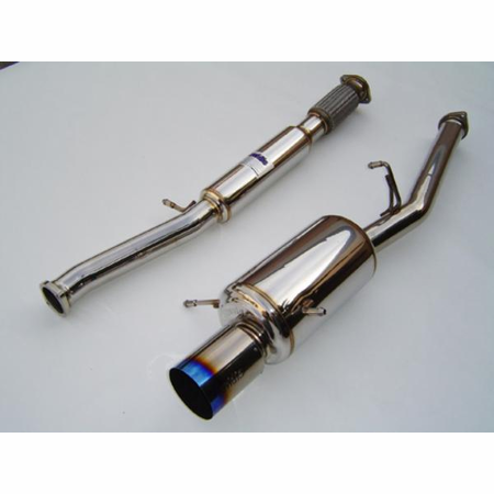 Invidia G200 Burnt Titanium Tip Cat-Back Exhaust 02-07 Subaru WRX/STI