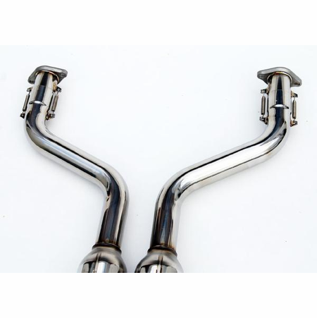 Invidia Gemini Rolled Stainless Steel Tips Cat-Back Exhaust for 07-UP Infiniti G35 Coupe
