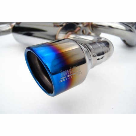 Invidia Gemini Rolled Titanium Tips Cat-Back Exhaust for 07+ Infiniti G35 Coupe