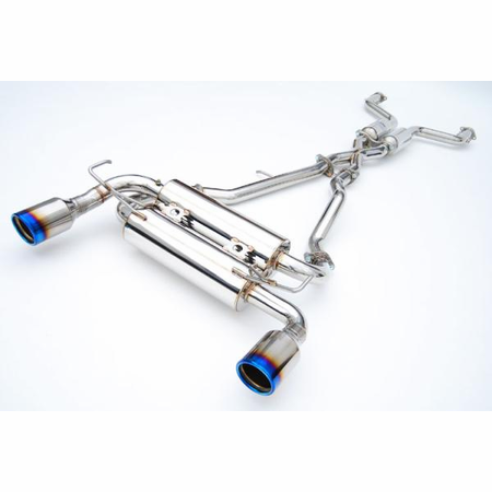 Invidia Gemini Rolled Titanium Tips Cat-Back Exhaust for 09-UP Nissan 370Z