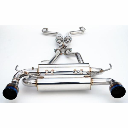 Invidia Gemini Single Layer Titanium Tips Cat-Back Exhaust for 07-UP Infiniti G35 Coupe