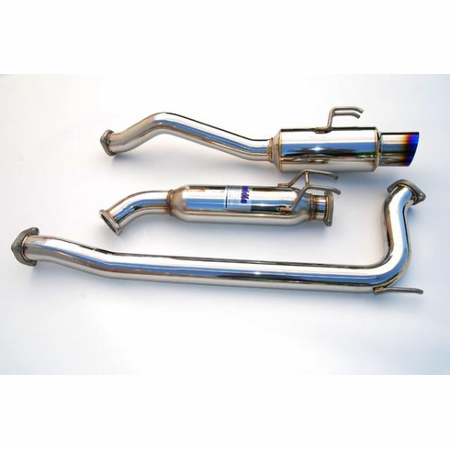 Invidia N1 Titanium Burnt Blue Tip Cat-Back Exhaust 06-11 Honda Civic Si Sedan