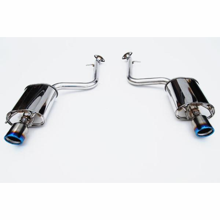 Invidia Q300 Rolled Burnt Titanium Tips Axle-Back Exhaust 13-UP Lexus IS250/IS350