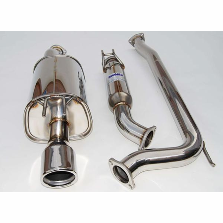 Invidia Q300 Rolled Stainless Steel Tip Cat-Back Exhaust 06-11 Honda Civic Si Sedan