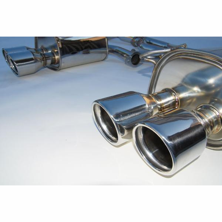 Invidia Q300 Rolled Stainless Steel Tips Cat-Back Exhaust 11-14 Subaru STI 4DR