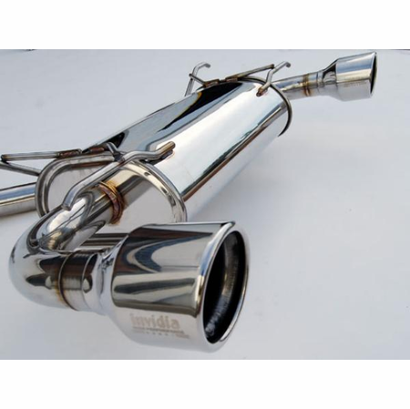 Invidia Q300 Rolled Stainless Steel Tips Cat-Back Exhaust 12-UP Subaru BRZ & Scion FR-S