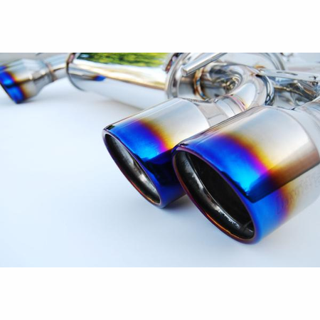 Invidia Q300 Rolled Titanium Tips Cat-Back Exhaust 08-14 Subaru WRX STI Wagon
