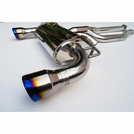 Invidia Q300 Rolled Titanium Tips Cat-Back Exhaust 09-UP Mitsubishi EVO X