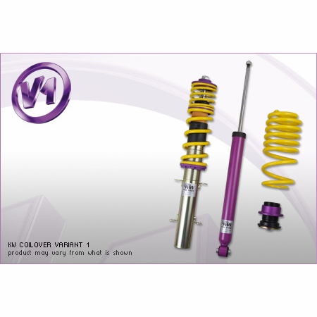 KW Variant 1 Coilover Kit VW Golf III / Jetta III (1HXO); all incl. Cabrio (-02); 2WD; all engines