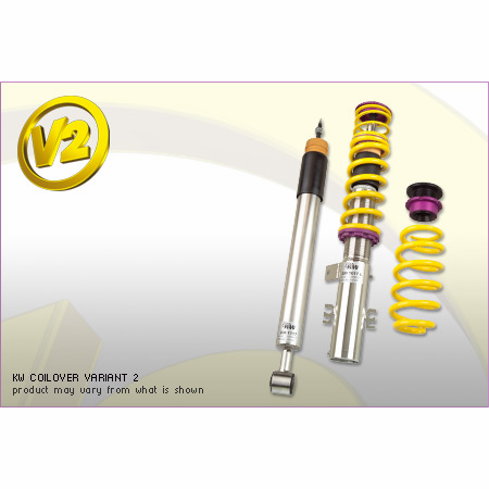KW Variant 2 Coilover Kit VW Eos (1F); all models, all engines, FWD, with DCC