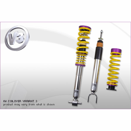 KW Variant 3 Coilover Kit Audi A4, S4 (8K/B8) with electronic dampening control Sedan FWD + Quattro; all engines