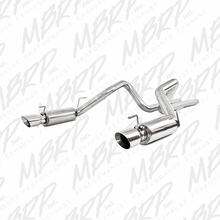 "MBRP 3"" Cat Back, Dual Split Rear, Race Version, T304 2007-2010 Ford Shelby GT 500"