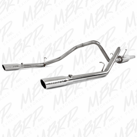 "MBRP 3"" Cat Back, Dual Split Rear, T409 2003 Dodge Ram Hemi 1500 5.7L SC/CC-SB"