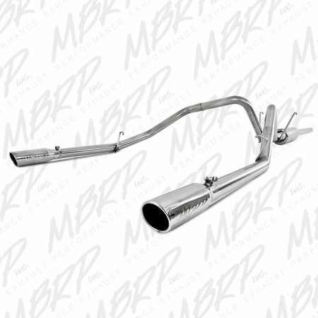 "MBRP 3"" Cat Back, Dual Split Rear, T409 2006-2008 Dodge Ram Hemi 1500 5.7L SC/CC-SB"