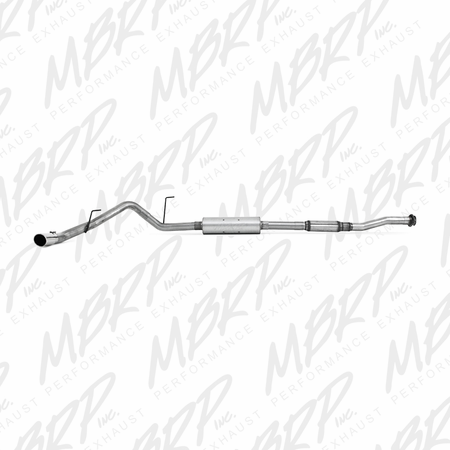 "MBRP 3"" Cat Back, Single Side, AL 2011-2014 Ford F150 5.0L RC-LB; EC/CC-6.5/5.5 box"