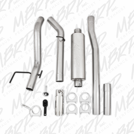"MBRP 3"" Cat Back, Single Side Exit, AL 2003-2013 Dodge Ram Hemi 2500/3500, 5.7L"