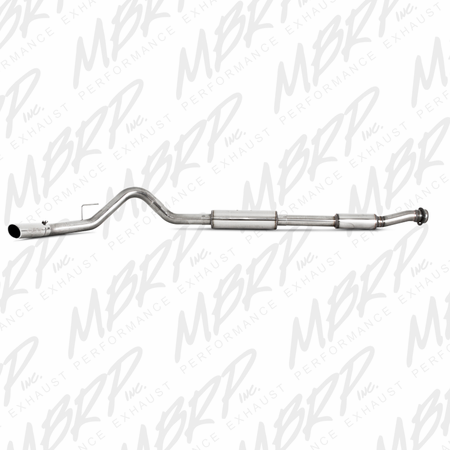 "MBRP 3 ½"" Cat Back, Single, T409 2011-2014 Ford F150 Raptor 6.2L CC-SB / EC-SB"