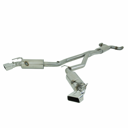 """MBRP 3"""" Dual Cat Back, Rectanglar Tips, T409 2010-2013 Chevy Camaro, V8 6.2L Automatic (L99) w/Ground Effects Pkg"""