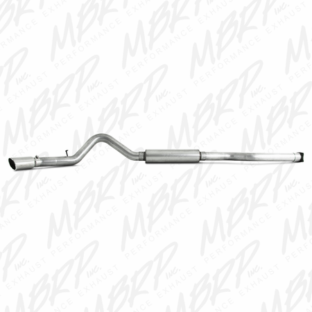 "MBRP 4"" Cat Back, Single Side, AL 2001-2005 Chevy/GMC 2500/3500 Duramax, EC/CC"